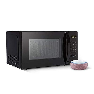 AmazonBasics Microwave bundle with Echo Dot (3rd Gen) - Plum