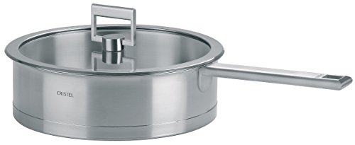 Cristel - S26SF- Sauteuse inox 26 cm + couvercle - Collection Strate