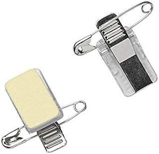 Porte-badge avec pince crocodile auto-adhésive et épingle (lot de 50)   Clip Combi   Pince et épinglettes horizontales de ...