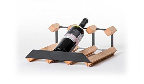 RAXI™ SHOW Premium Weinregal aus Buchenholz mit luxuriösem Design für 3X Wein Flaschen
