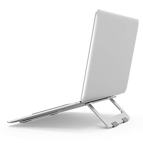 Soporte Portátil Plegable,Elevador Ajustable para Computadora Portátil de aluminio ergonómica con Ventilación de Calor,Compatible con MacBook Air/Pro,DELL,HP,Lenovo,más computadoras portátiles,Plata