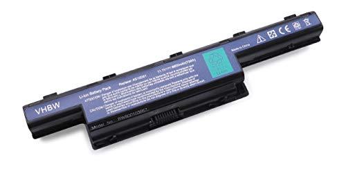 vhbw Akku 6600mAh wie AS10D31, AS10D51, AS10D41, AS10D61, AS10D71 für ACER TravelMate 4740, 5740, 5742, 7740 Laptop Notebook - Li-Ion, 11.1V, schwarz