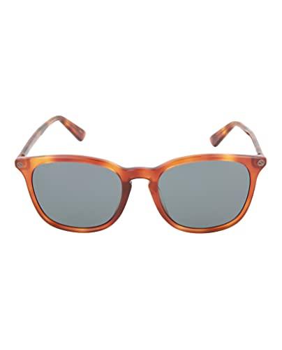 Gucci GG0154SA 003 Occhiali da Sole, Marrone (3/Bluee), 53 Unisex-Adulto