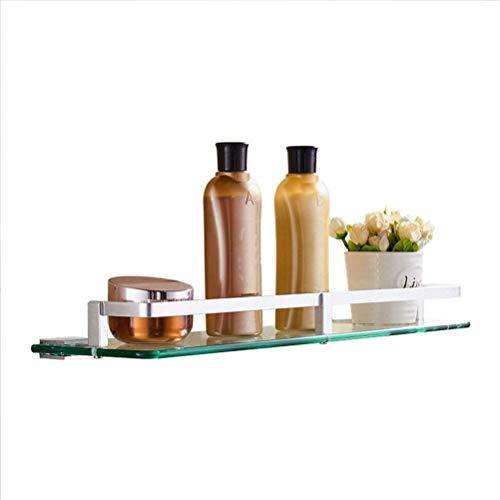 Bad douche plank glas metaal roestvrij eenvoudig in te bouwen keuken kruidenrek voor hotel Wc IC (grootte: 60 cm) 25 cm.