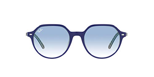Ray-Ban 0rb2195-13193f-55, Gafas Hombre, Blue On Vichy Blue/White