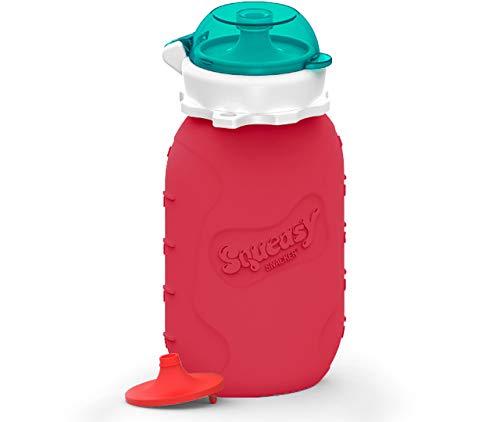Squeasy Snacker, 180ml (Rosso) – Sacchetto Cibo...