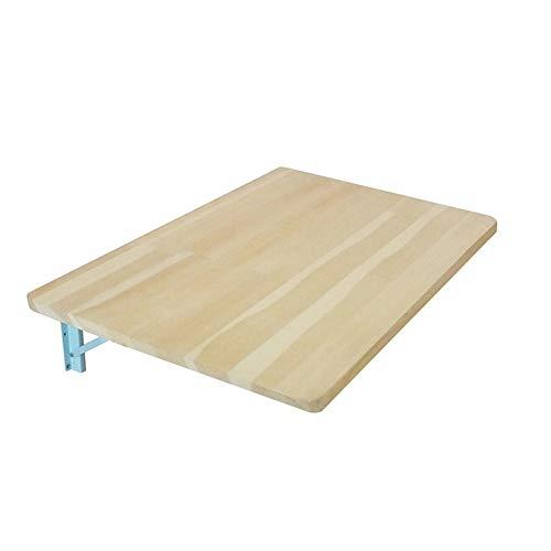 YANGFH Mesa plegable de caida, mesa plegable, montada en la pared, mesa de comedor rectangular de madera de alta resistencia, escritorio for computadora con soporte de aluminio, mesa de pared Life Lif