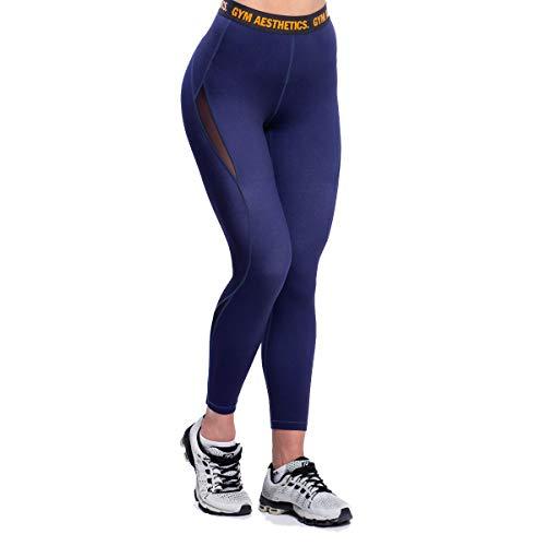 GYM AESTHETICS | Mallas deportivas multiplied para mujer, pantalones de yoga, opacos, de secado rápido, ropa urbana, para yoga y otros deportes. marine XXL