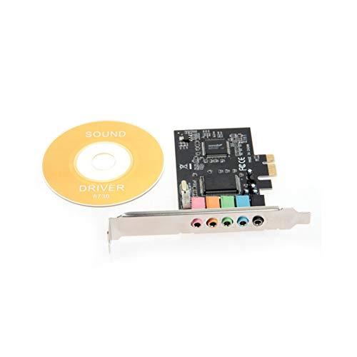 PCI-E PCI Express 6 Canales 5.1 CMI8738 Tarjeta de Sonido de Audio PC Computadora Compatible con Windows Tarjeta de Sonido de Tarjeta de Sonido ordinaria