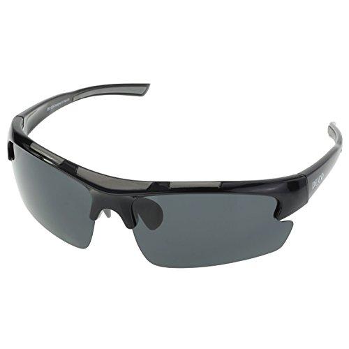 DUCO polarisiert Designer Mode Sport-Sonnenbrille für Sport Fahrrad Angeln Golf TR90 super leichter Rahmen 6200 (Schwarz)