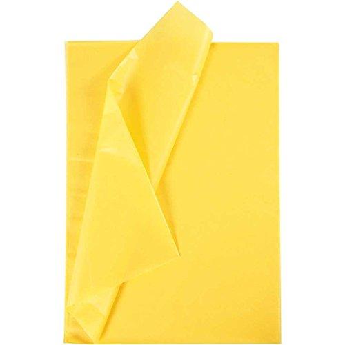 Creavvee® Decoupage Seidenpapier 50x70 cm, Gelb 25 Bögen