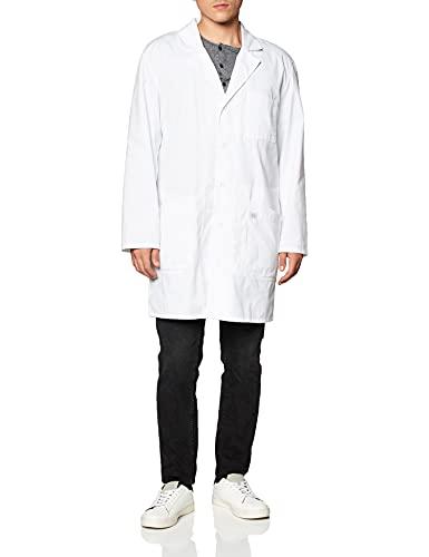 Dickies 37 Inch Unisex iPad Lab Coat, White, Medium