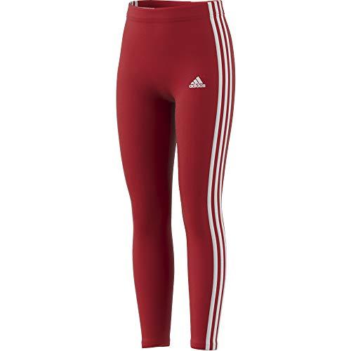 adidas G 3s Leg - Leggings da Bambina, Bambina, Maglie, GN4067, Rosso/Bianco, 10 Anni