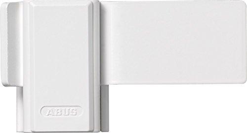 ABUS Fenster-Zusatzsicherung SW10 - Fensterschloss zur Montage ohne Anbohren des Fensterflügels - ABUS-Sicherheitslevel 4 - 10443 - Weiß