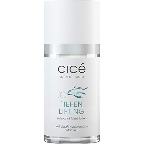 cicé Tiefenlifting Anti-Aging Serum gegen Falten, Mimikfalten, Zornesfalten, Stirnfalten und schlaffe Haut