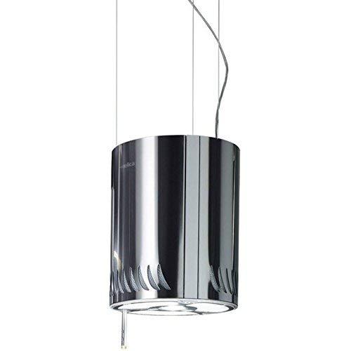 Elica Naked 480 m³/h Decorativa Acero inoxidable - Campana (480 m³/h, Recirculación, 65 dB, Decorativa, Acero inoxidable, Acero inoxidable)