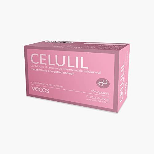 Celulil Vecos para combatir la celulitis y la piel naranja - Anticelulítico y reductor intensivo que alisa y tonifica la piel – 100% natural – 90 cápsulas