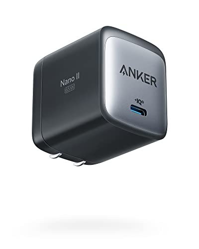 USB C Charger, Anker Nano II 65W GaN II PPS Fast Charger Adapter, Foldable Compact Charger for...