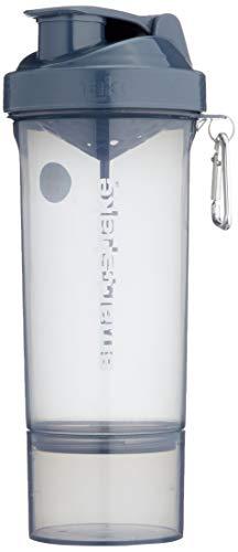 Smartshake Botella Delgada para batir, 502 ml, Negro, Gunsmoke Black, 1, 17