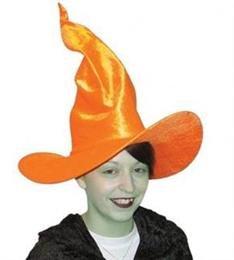 Orange Velvet Look Witch hat