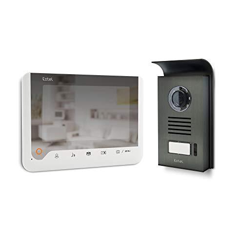 Extel ICE Visiophone 2 fils à mémoire de passage et effet miroir, Blanc