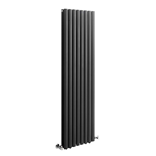 Milano Hudson Reed Vitality – Radiateur Design Vertical – Anthracite – 160 x 47,2cm Double Rang