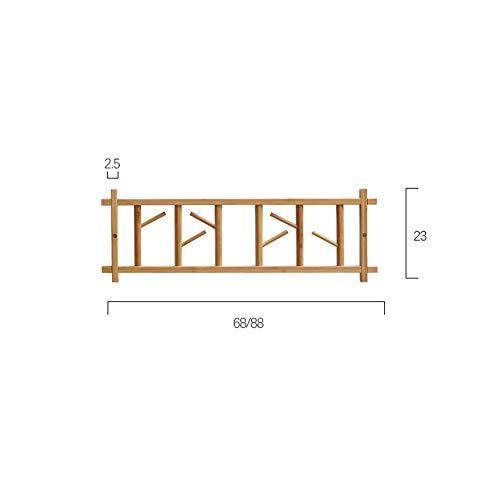 Perchas de madera modernas y minimalistas en el porche de entrada, perchas de gancho, perchero oculto