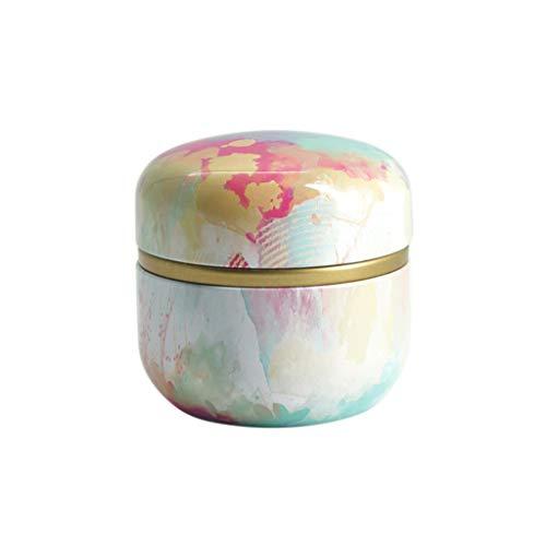 GuanjunLI Mini-Dose, Teedose mit Blumenmuster, für losen Tee, Kaffee, Süßigkeiten, japanischer Stil a