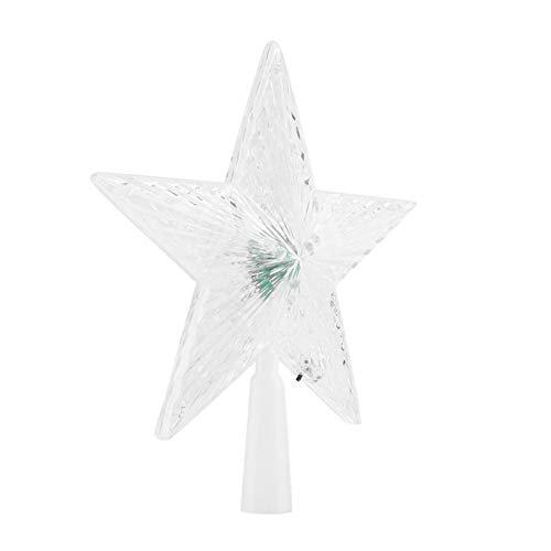 Santing Árbol de Navidad de Estrella de Cinco Puntas portátil con Luces, Hermosas Luces de árbol de Navidad, liviano para la celebración navideña Diseño de mar Ligero Familia al(Large)