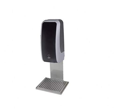 Blanc HYGENIC Desinfektions-Spender • Berührungslos mit Sensor • Inkl. 3X 1 Liter Haut-Desinfektionsmittel • Mit Auffangschale • Silber/Schwarz