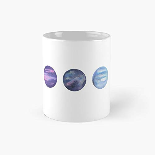 3 Water Color Planets Classic Mug - Gift The Office 11 Ounces Funny White Coffee Mugs-nilinkep