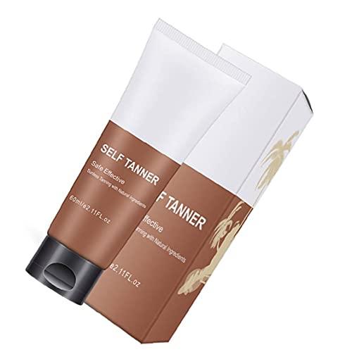 LeuMuas Tan Falsa Autoayuda Bronceado Cara Cuerpo Tumbona Loción Crema Natural Tan Acelerador de Bronce Mejorar la Piel Hidratación nutritiva Loción Salud y Productos de Belleza