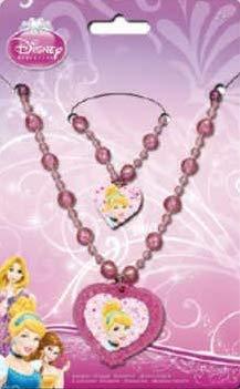 Unbekannt Disney Princess - Set di 2 gioielli alla moda per bambini, composto da collana e bracciale