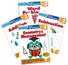 Kumon Grade 2 Math workbooks (4 books) - Addition, Subtraction, Geometry & Measurement and Word Problem