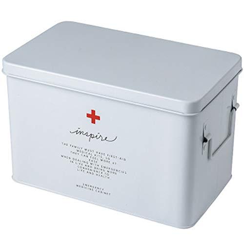 Yaootely Medizin Box Haushalt Medizin Box Medikamenten Aufbewahrung Box Kind Familien Gr??E Gr??E Tragbar Ambulante Notfall Medizin Kit-Weiss