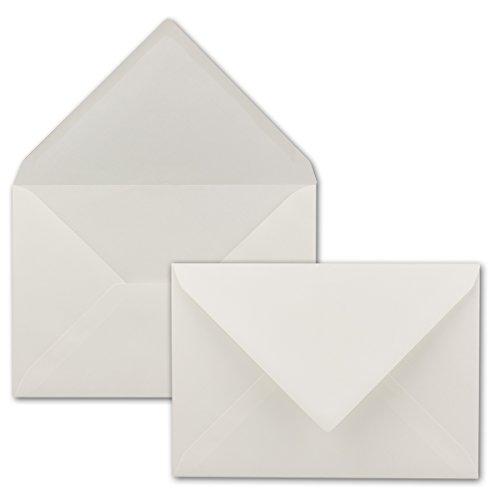 Briefumschläge in Weiß mit Feinleinen Struktur - 50 Stück - Weiße Kuverts in DIN C5 Format 16,2 x 22,9 cm - Mit Strukturprägung - Nassklebung - Gustav NEUSER