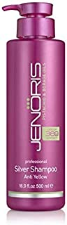 Jenoris Silver Shampoo 16.9 Fl.oz Professional Haircare Products; Purple Shampoo Healing Formula Prevents Discoloring for Blonde, Grey, or Lightened Hair. Sulfate Free & Pistachio Oil Infused
