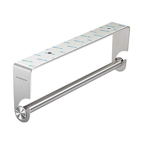 simpletome Küchenrollenhalter Papierhandtuchhalter Küche Unter Kabinett Aufkleber oder Bohrinstallation SUS304 Edelstahl