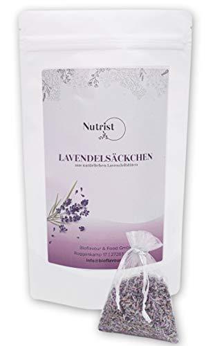 nutrist® 10x Lavendelsäckchen – Duftsäckchen für Kleiderschrank – Lavendel Duftsäckchen zum Entspannen und Schlafen – Mottenschutz für den Kleiderschrank