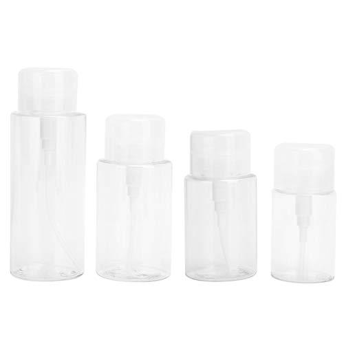 Botella dispensadora de cosméticos de 4 piezas, evita la presión accidental Contenedor de líquido de viaje portátil Material plástico para loción para esmalte de uñas para champú