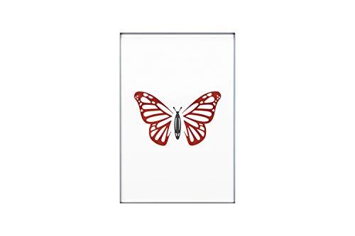 KunstLoft® Acryl 3D wanddecoratie 'Butterfly Summer' 40x60cm Zwart Rood Vlinder
