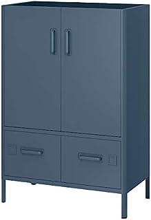 IDåsen Armoire avec serrure intelligente, bleu, 80 x 119 cm, pour la maison et le bureau, unités de rangement et armoires....