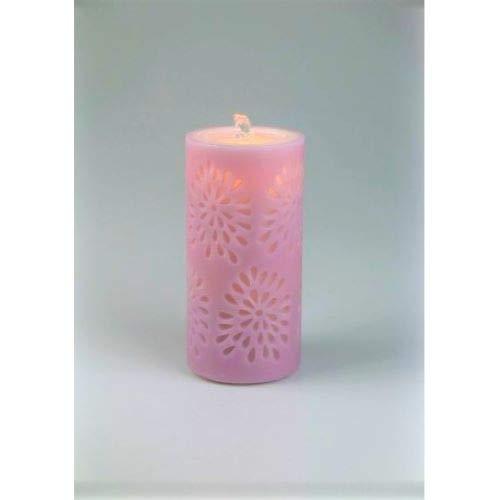 Water Flame LED Kerze Echtwachs mit Springbrunnen Zimmerspringbrunnen Raumbefeuchter rosé