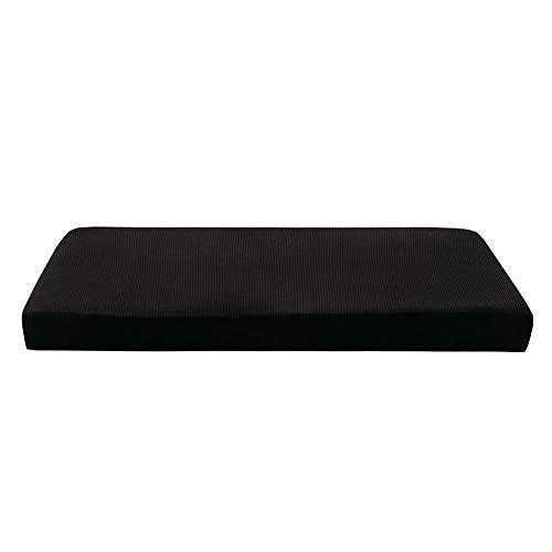 Prosperveil - Fundas elásticas para Asientos de sofá de poliéster y Elastano, Fundas de cojín para sillas de futón, Fundas de cojín para sofá y Fundas Protectoras, Negro, 3 Seater