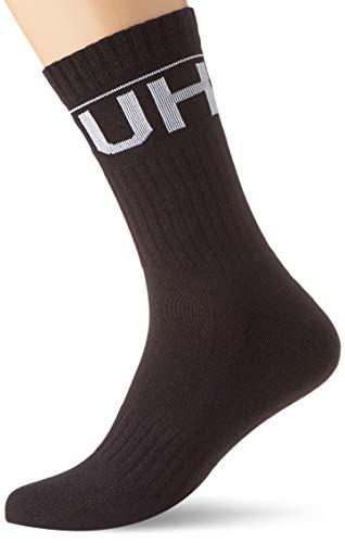 HUGO 2p Qs Rib Logo Cc Calcetines, Negro (Black 001), 35/38 (Talla del fabricante: 35-38) (Pack de 2) para Hombre