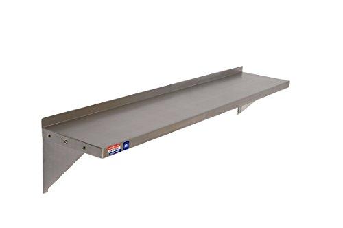 Roestvrij stalen wandplank - inclusief beugels & bevestigingen - 1524 x 305 mm (60