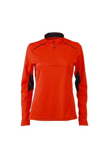 JAMES & NICHOLSON Ladies Running Shirt de Maternité, Rouge (Grenadine/Iron Grey), (Taille Fabricant: XX-Large) Femme
