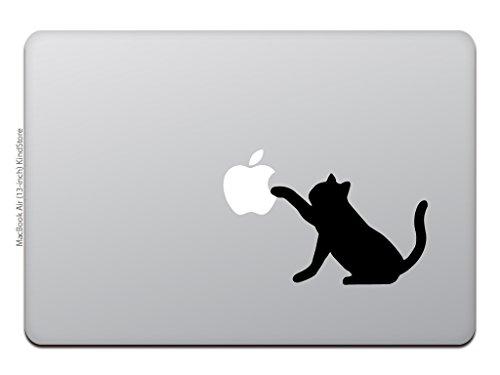 カインドストアMacBookAir/Proマックブックステッカーシール猫黒猫キャットアップルM618