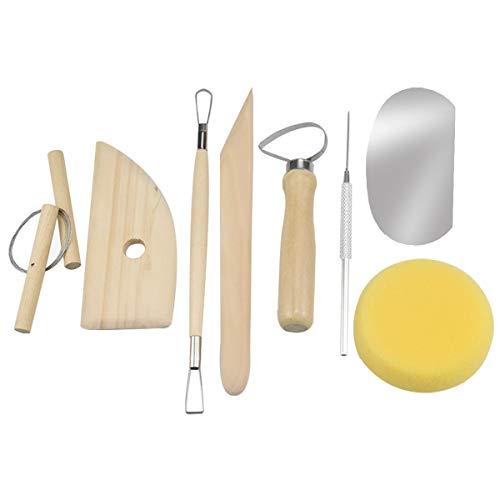 wangjiangda 8 STK Töpferwerkzeug für Polymer Clay Sculpting Werkzeug Modellierwerkzeug, Keramik Werkzeug Modellierwerkzeug Set für Profis und Anfänger