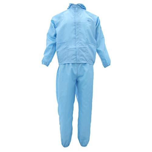 Tuta Indumenti Protettivi Antistatici Abiti Costumo Riparazione Abbigliamenti da Lavoro Verniciatura - XL Blu